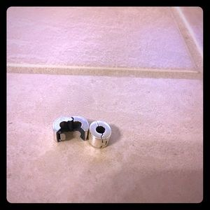 Pandora sterling silver charm stoppers set of 2